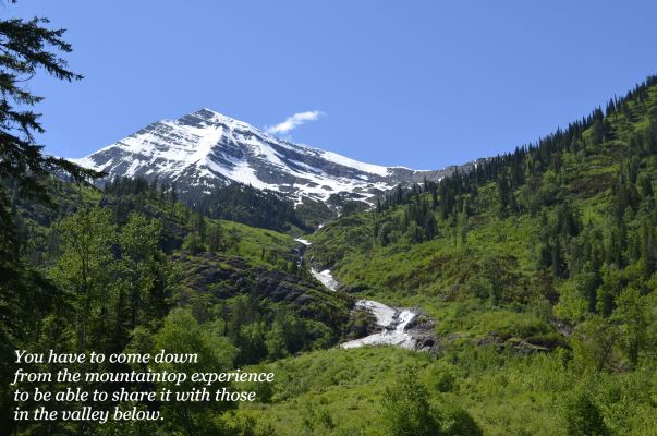 quote mountaintop